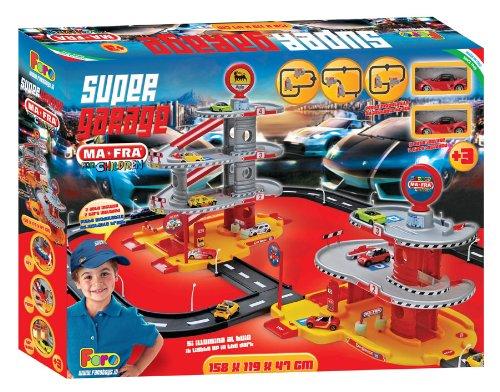 Super garaje con 4 niveles para niños