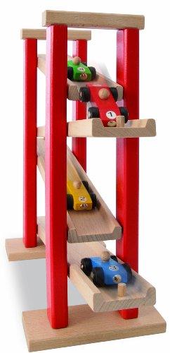 HEROS-Circuito para coches de juguete en madera