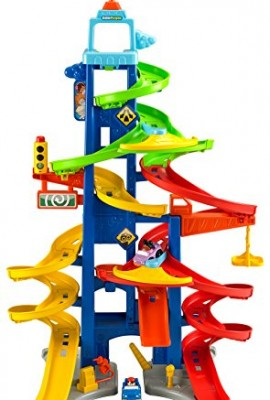 Pista con coches de juguetes para niños Mattel