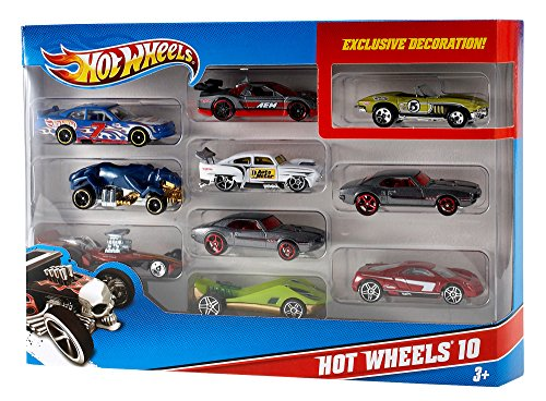 Pack de 10 coches de juguetes para pistas Hot Wheels