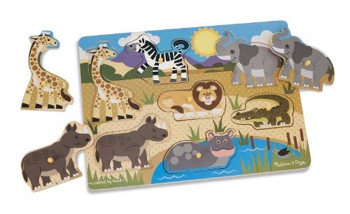 Puzzle infantil de piezas encajables de madera