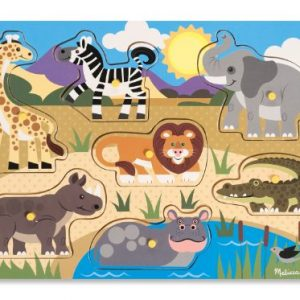 Puzzle de animales salvajes de madera infantiles