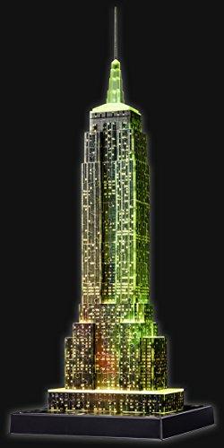 Puzzle 3D Empire State iluminado amarillo- Ravensburger