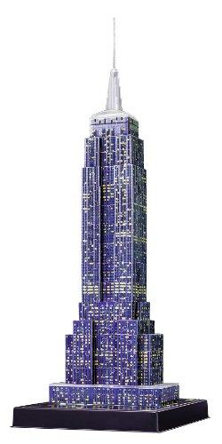 Puzzle 3D Empire State iluminado purpura - Ravensburger