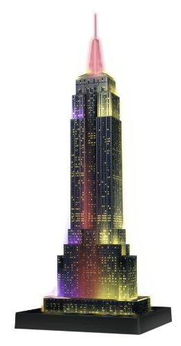 Puzzle 3D Empire State iluminado con varios colores