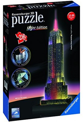 Puzzle 3D Ravensburger-Empire-State-Night