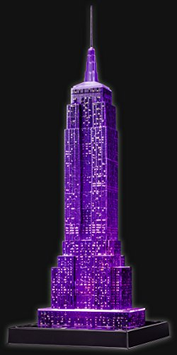 Puzzle-3D-Empire-State-Night-Con luces