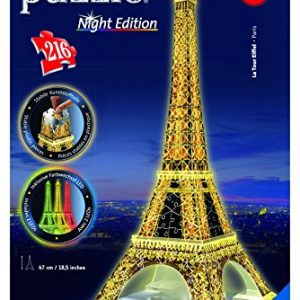 Puzzle 3 dimensiones de 216 piezas de la torre Eifel de París