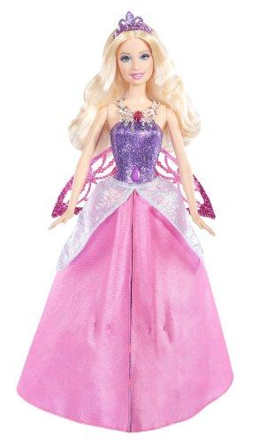 Muñeca Barbie con alas y falda desplegable
