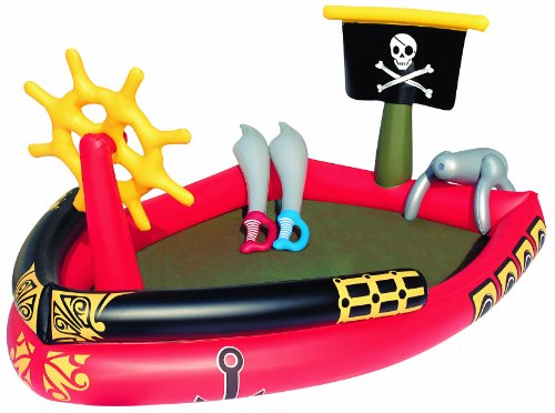 Divertida piscina para niños con forma de barco pirata