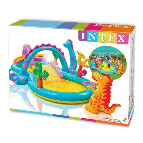 Centro de actividades con piscina hinchable y tobog n para for Piscina hinchable bebe
