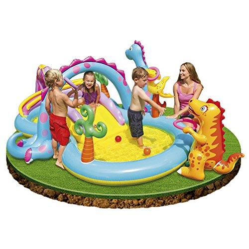 Centro de actividades con piscina hinchable y tobog n para for Piscinas para bebes alcampo