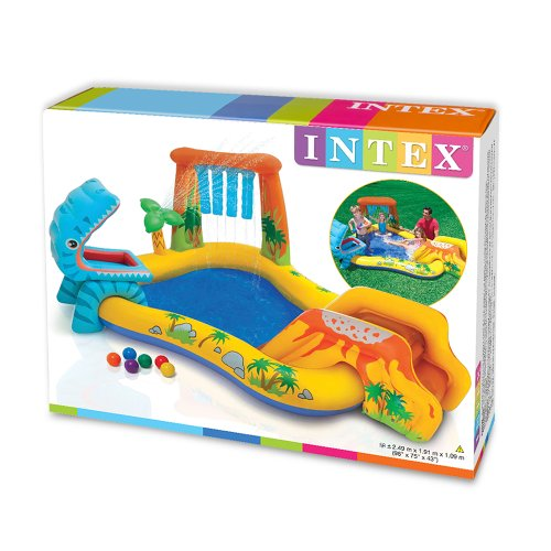 Centro de juegos dinosaurio intex juguetespeque for Toboggan intex piscine