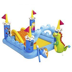 Centro de juegos con pscina hinchable y accesorios con diseño de castillo