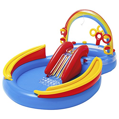 Centro de juegos con piscina hinchable tobog n y accesorios for Best children s paddling pool