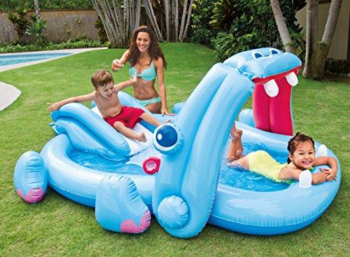 Piscina infantil hipo con tobog n juguetespeque for Playmobil piscina con tobogan
