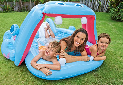 Piscina infantil hipo con tobog n juguetespeque - Tobogan hinchable para piscina ...