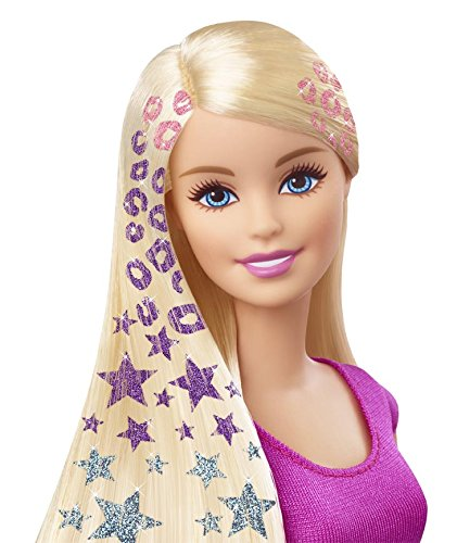 Barbie con mechas de purpurina