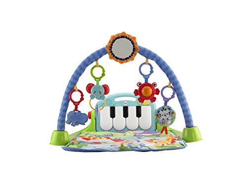 Divertida manta con sonajeros y piano