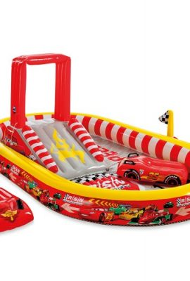 Piscina hinchable con tobogan Cars