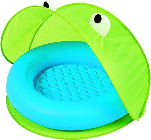 Piscina hinchable para bebes colorverde azul