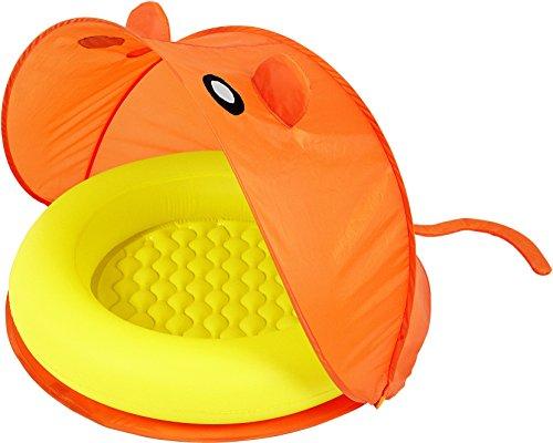Piscina hinchable para bebes color amarillo naranja