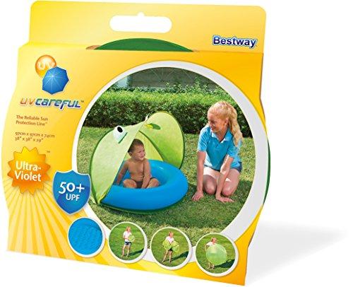 Piscina para bebés con toldo desmontable