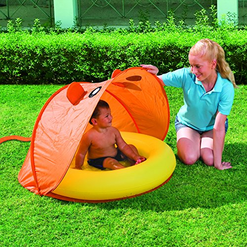 BEST-WAY Piscina-para-beb-colores-naranja