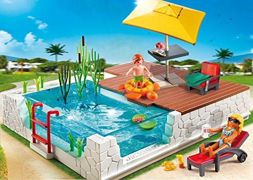 Playmobil piscina con terraza juguetespeque for Piscine playmobil 5575