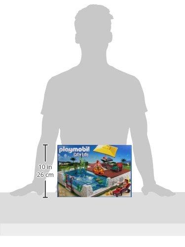 Juguete de Playmobil piscina con terraza