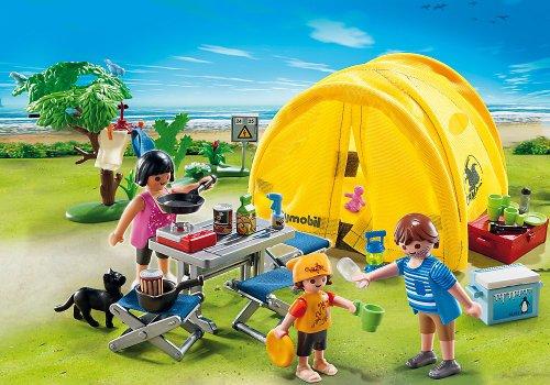 Conjunto Playmobil-Tienda-de-campaña