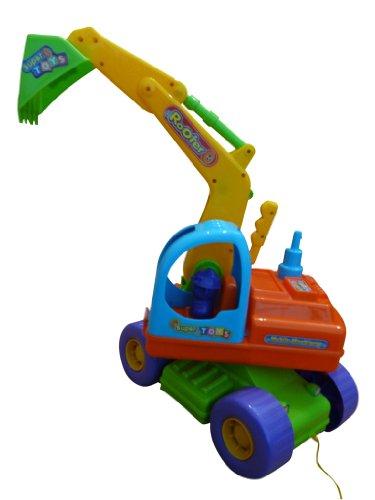 coche con pala para jugar en la arena