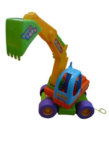 Excavadora con pala para jugar en la playa para niños