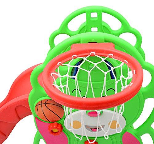 Tobogan infantil con canasta baloncesto