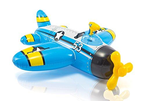 Flotadores Intex con forma de avion azul