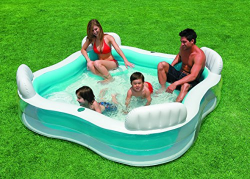Piscina Intex con asientos