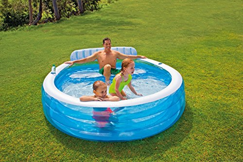 Piscina hinchable con sill n juguetespeque for Piscina hinchable con depuradora incluida