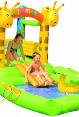 Castillo y piscina hinchable para niños