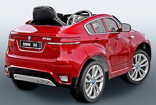 BMW-X6-Rojo-Lacado-Asiento-Tapizado-coche-elctrico