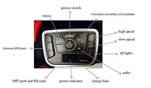 Coche electrico Bmw con musica y velocidades