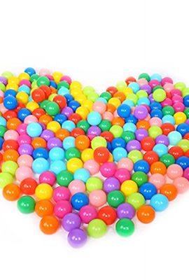 Vococal-Bolas-de-Plstico-Suave-Llena-de-Aire-para-Piscina-de-PelotasCasas-de-ReboteTiendas-de-JuegoCasas-de-Juego-100-bolas-Colorido-0