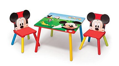 Juego de Mesa y Sillas Mickey Mouse
