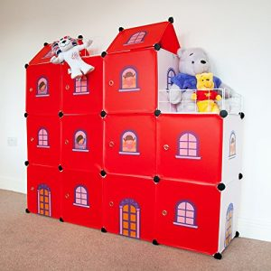 estantería infantil castillo rojo