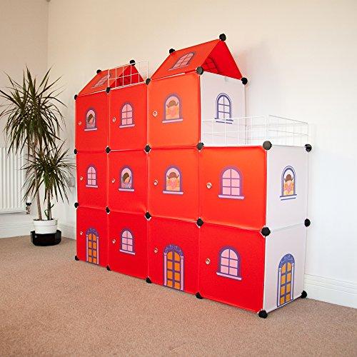 Estanter a infantil castillo rojo juguetespeque - Estanteria biblioteca infantil ...