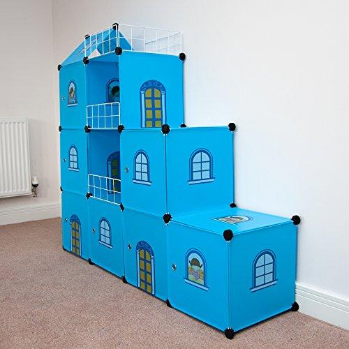 estantera infantil castillo azul
