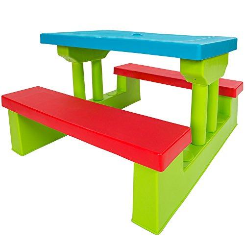 Conjunto de mesas con bancos infantil