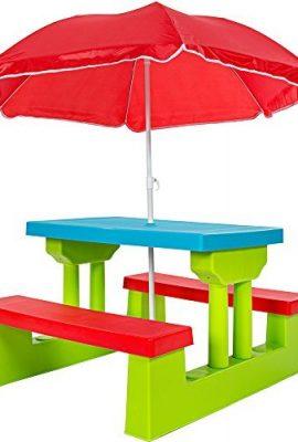 TecTake-Conjunto-de-mesa-y-bancos-para-nios-asientos-sillas-sombrilla-juego-infantil-0