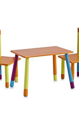 Zeller-13455-Color-Juego-de-mesa-y-sillas-infantiles-tablero-DM-3-piezas-mesa-40-x-60-x-42-cm-sillas-28-x-28-x-53-cm-0