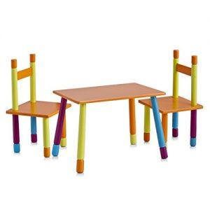 juego de mesa y silla diseño colores