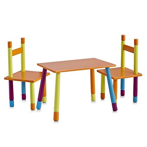 Juego de mesa y sillas infantiles dise o colores for Mesa y sillas ninos